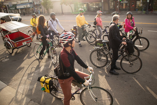 Oakland Bike to Work Day 2018 pedal pool