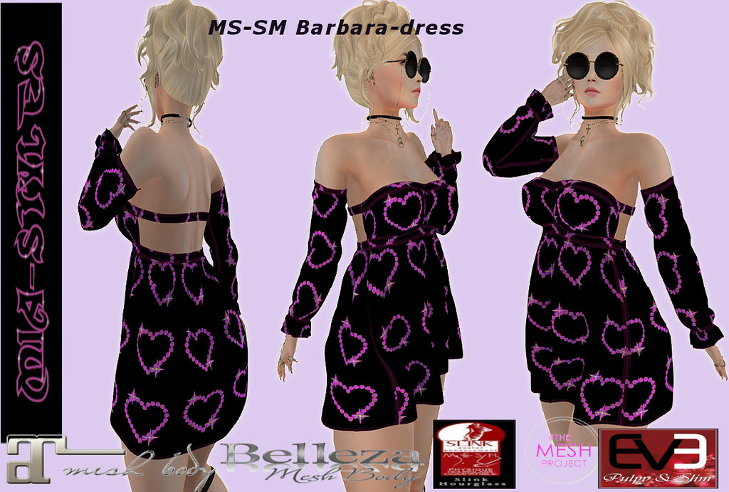 MS-SM Barbara-dress black - TeleportHub.com Live!
