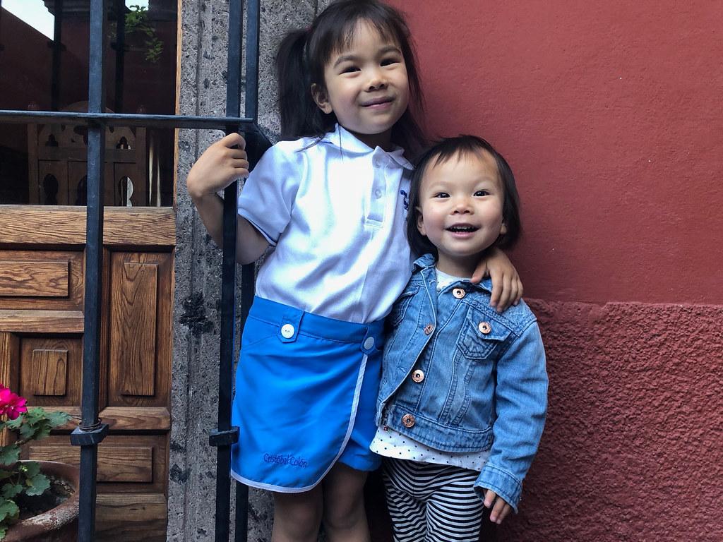 Nelly's first school uniform