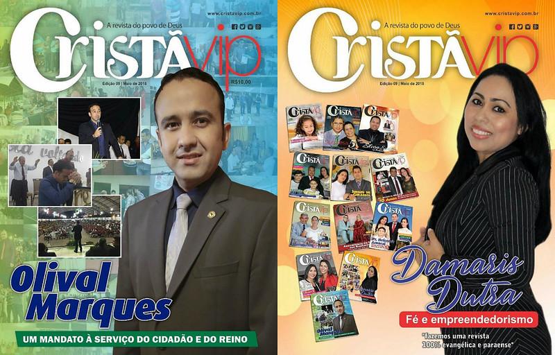 Sai a nova edição da revista evangélica Cristãvip; tem capa dupla e 52 páginas, vip