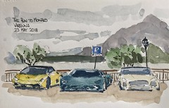 The Run to Monaco, watching the end of a stage at Varenna