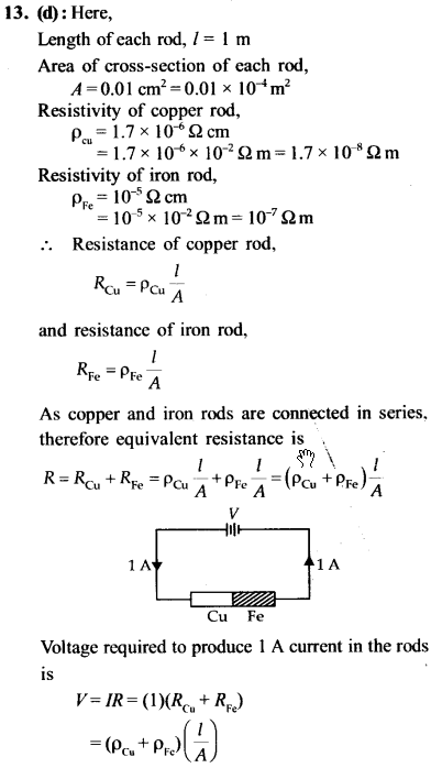 NEET AIPMT Physics Chapter Wise Solutions - Current Electricity explanation 13
