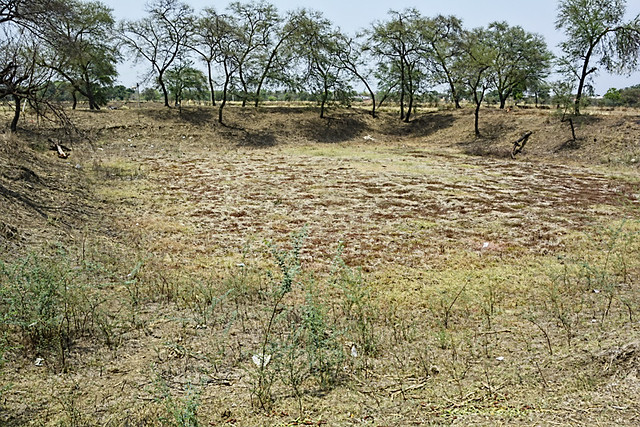 Proposed site for construction of a concrete rainwater harvesting structure near Rautpara at Bagledi.