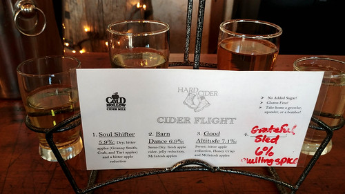 Hard Cider Flight at Cold Hollow Cider Mill