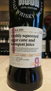 SMWS 64.101 - Freshly squeezed sugar cane and kumquat juice