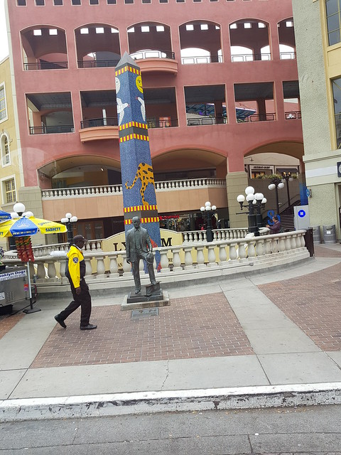 The Ernest W. Hahn Statue Outside The Horton Plaza in Downtown San Diego, California