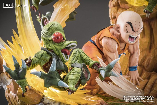 最強地球人,怒氣炸裂!! Tsume-Art HQS 系列《七龍珠Z》克林 Krillin Chap 0: Heroes in Terror 1/6 比例場景雕像作品
