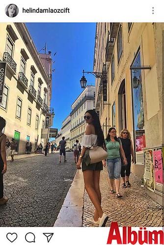 Helin Damla Özçift, Portekiz tatilinden bu fotoğrafı paylaştı.