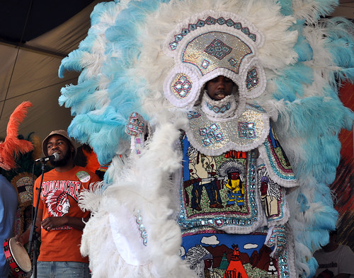 Comanche Hunters Mardi Gras Indians on the Jazz & Heritage Stage