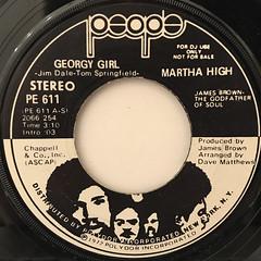 MARTHA HIGH:GEORGY GIRL(LABEL SIDE-A)