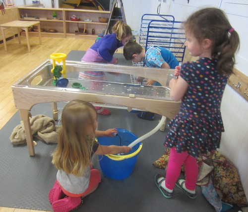 emptying the water table