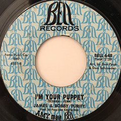 JAMES & BOBBY PURIFY:I'M YOUR PUPPET(LABEL SIDE-A)