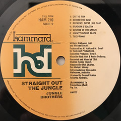 JUNGLE BROTHERS:STRAIGHT OUT THE JUNGLE(LABEL SIDE-B)