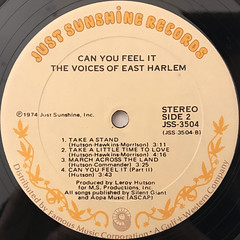 THE VOICES OF EAST HARLEM:CAN YOU FEEL IT(LABEL SIDE-B)