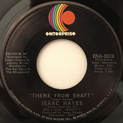 ISAAC HAYES:THEME FROM SHAFT(LABEL SIDE-A)