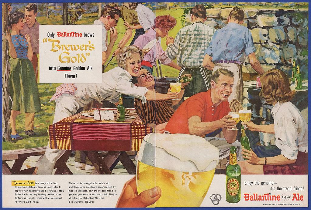 Ballantine-1957-picnic-double-truck