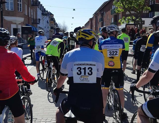 Strängnäsrundan - 65km på cykel - starten