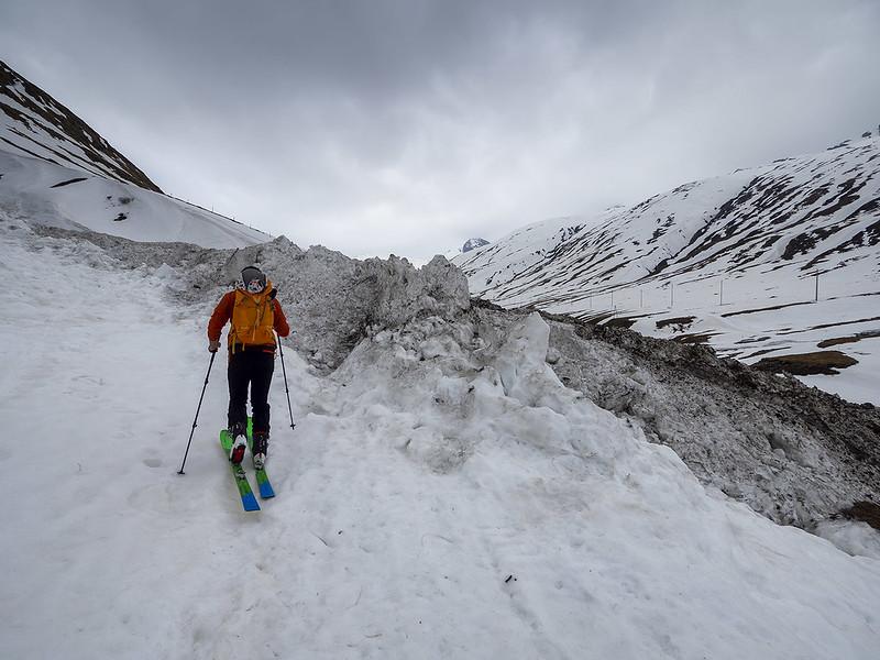Verso il Gletscherhorn, valanga in Val Bergalga