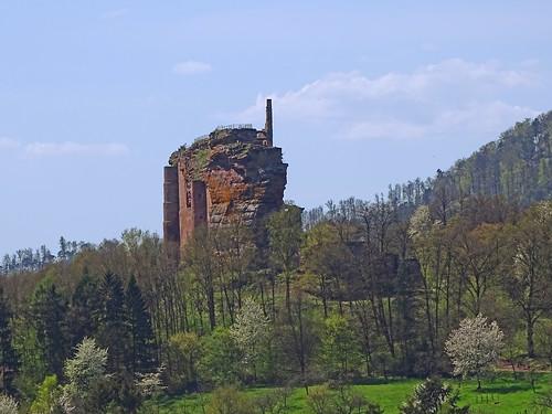 Grand zoom sur le Fleckenstein