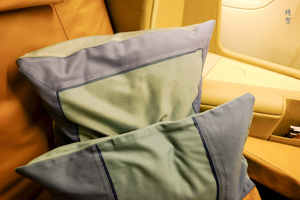 Pillows on the seats