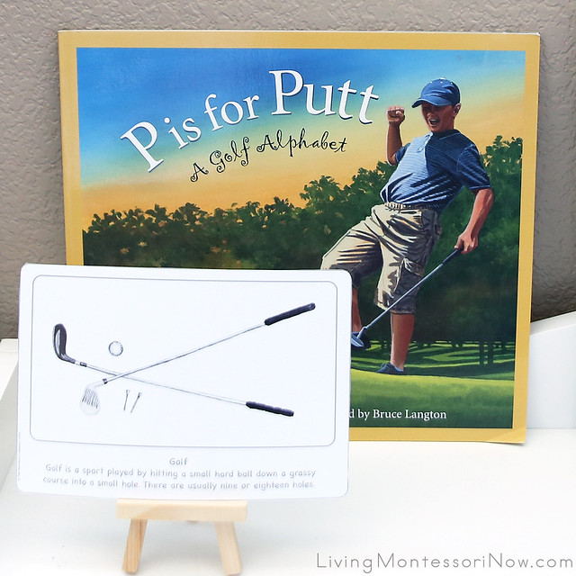 Golf Culture Card with P Is for Putter Book