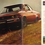 Sat, 2015-09-12 09:37 - 1974 Opel Manta Rallye Advertisement Motor Trend July 1974