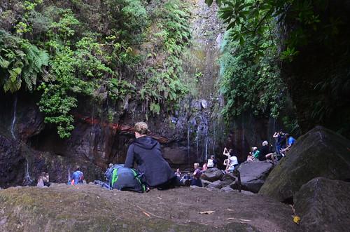 Um die Quellen herum lagerten die Touristen
