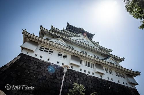 GR2作例:大阪城をワイコンで撮影