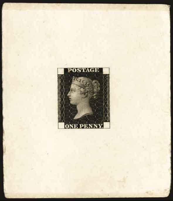 Die proof of the Penny Black.