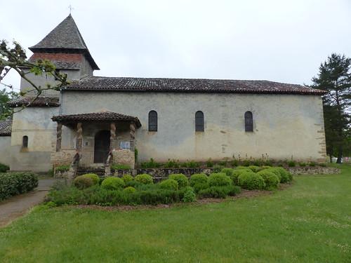 Église Saint-Candide de Bougue, Landes, inscrite aux monuments historiques par arrêté du 11 septembre 1997