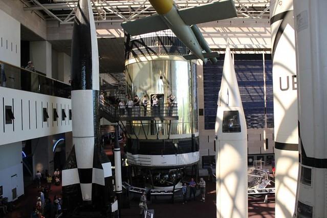 High tech space museum tour
