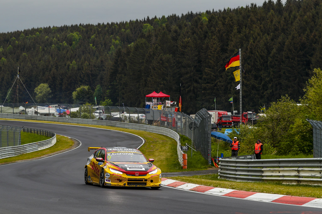 09 CORONEL Tom (NLD), Boutsen Ginion Racing, Honda Civic TCR, action during the 2018 FIA WTCR World Touring Car cup of Nurburgring, Germany from May 10 to 12 - Photo Florent Gooden / DPPI