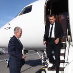 French President Emmanuel Macron arrives at Sofia Airport ahead of the EU - Western Balkans Summit