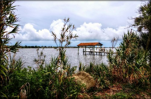boathousescenic ormondbeachflorida amespark halifaxriver stormy cloudformations palmetto palmtrees river water scenic outdoors landscape