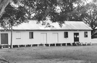 Souths Rugby Leagues shed on Davies Park, Brisbane, 1950