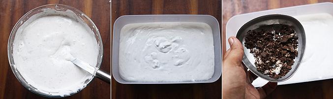 How to make oreo ice cream recipe - Step7