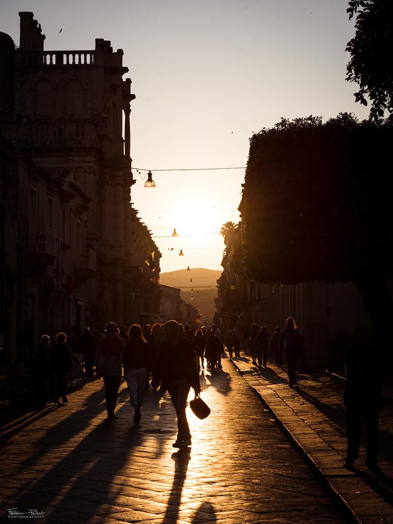 Dernier coucher de soleil à Noto
