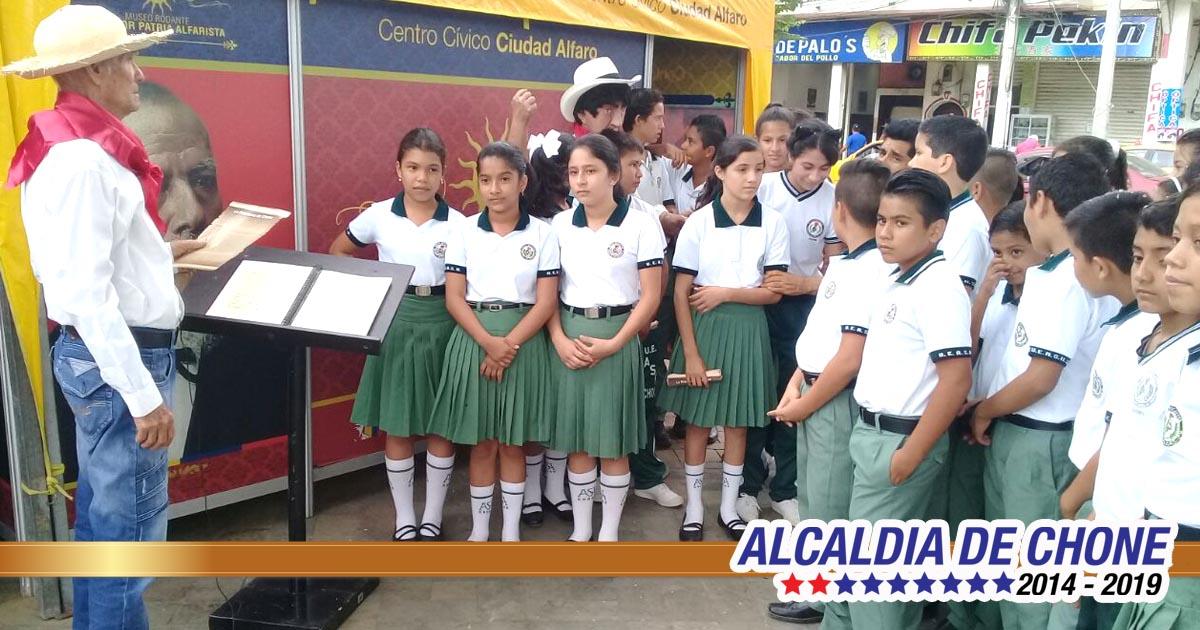 Museo Ecuador Patria Alfarista visita Chone