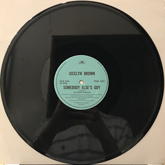 JOCELYN BROWN:SOMEBODY ELSE'S GUY(RECORD SIDE-A)