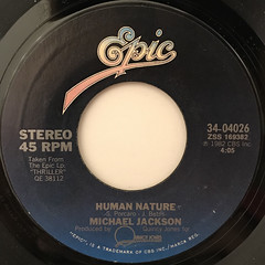 MICHAEL JACKSON:HUMAN NATURE(LABEL SIDE-A)