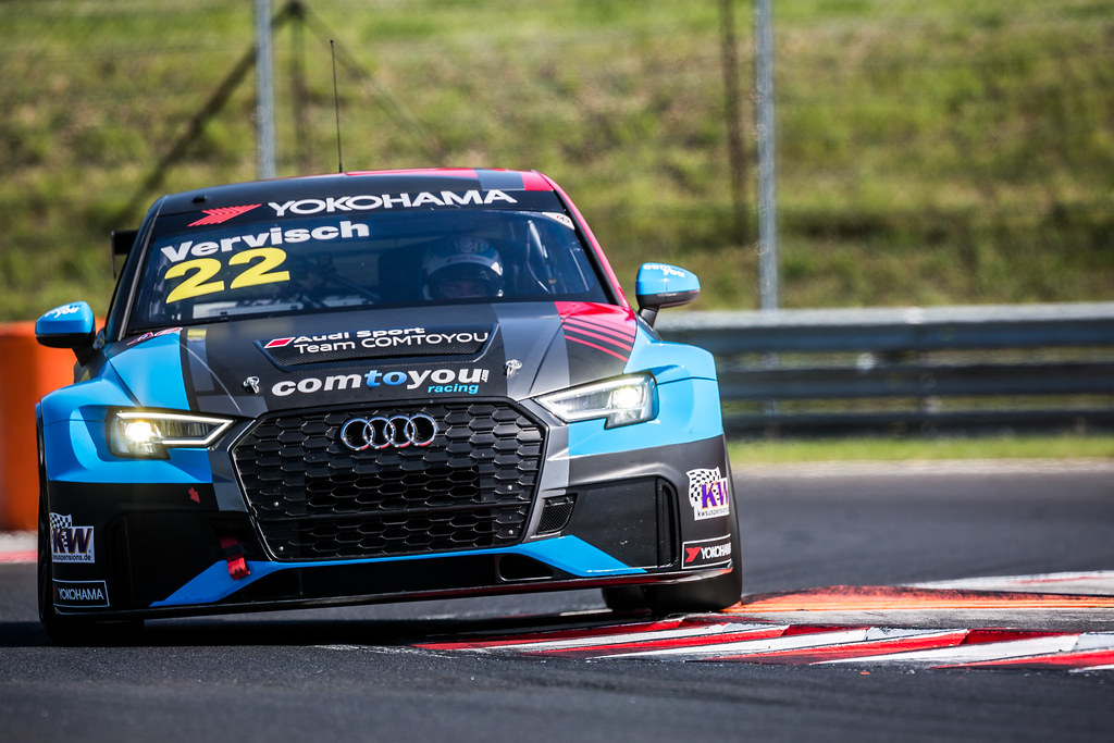 22 VERVISCH Frederic (BEL), AUDI Sport Team COMTOYOU, Audi RS3 LMS, action during the 2018 FIA WTCR World Touring Car cup, Race of Hungary at hungaroring, Budapest from april 27 to 29 - Photo Thomas Fenetre / DPPI