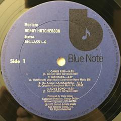 BOBBY HUTCHERSON:MONTARA(LABEL SIDE-A)