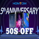 HomTom 5 Anniversary Flash Sale Save Extra $50 off