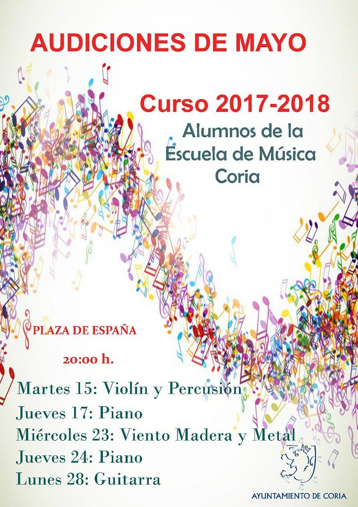 Las audiciones de los alumnos de la Escuela Municipal de Música se celebrarán en la Plaza de España