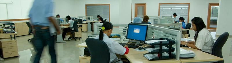 Khu vực văn phòng tư vấn - làm việc