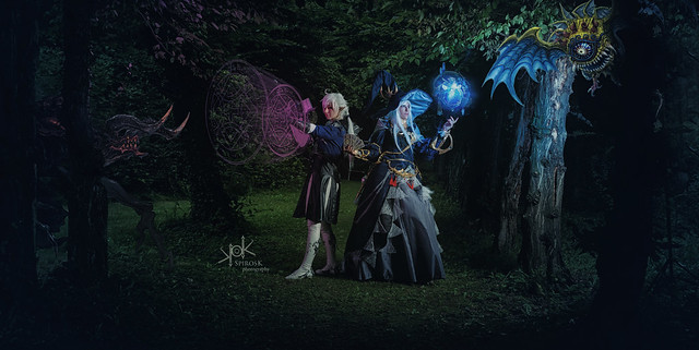 Fotocon 2017: Ailiroy and Rose & Prince Cosplay as Astrologian and Alphinaud Leveilleur from Final Fantasy XIV, by SpirosK photography