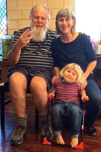 Jill & Paul Weaver with 3 year old grandson Jasper