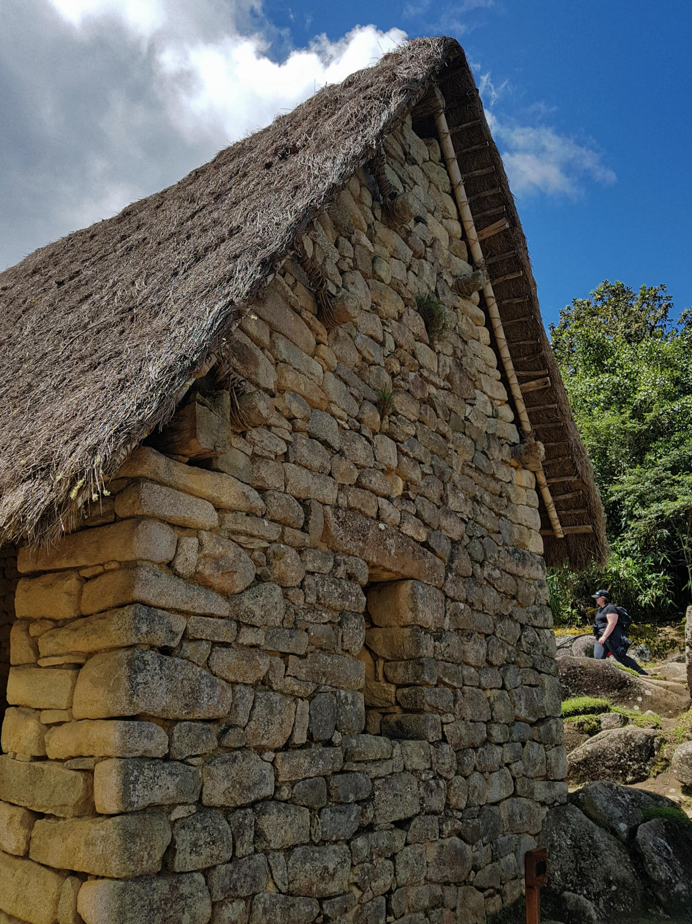 House with reconstructed roof at Machu Picchu