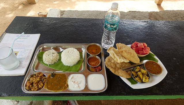 Lunch thali, Tamarind Tree