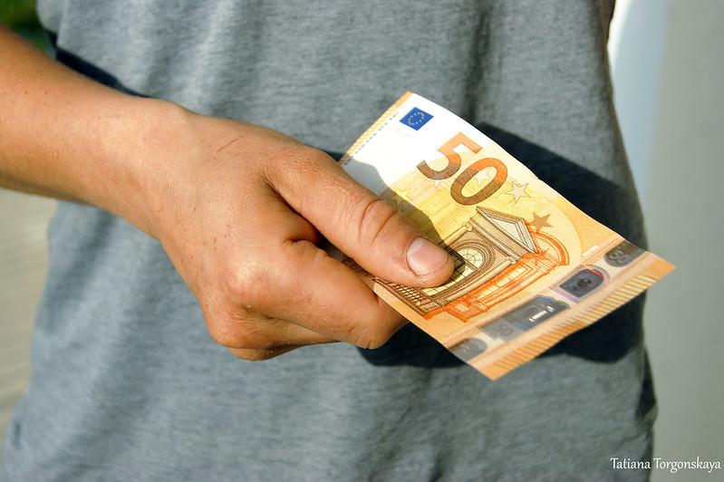 Купюра достоинством 50 евро
